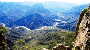 Urique, far below Cerro Gallego in Mexico's Copper Canyon (photo Bob Bowers)