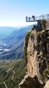The skywalk at Cerro Gallego, Copper Canyon  (photo Bob Bowers)